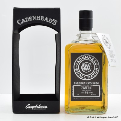 Caol Ila 1982 34 Year Old Cadenhead's