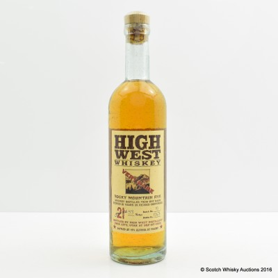 High West Rocky Mountain Rye 37.5cl