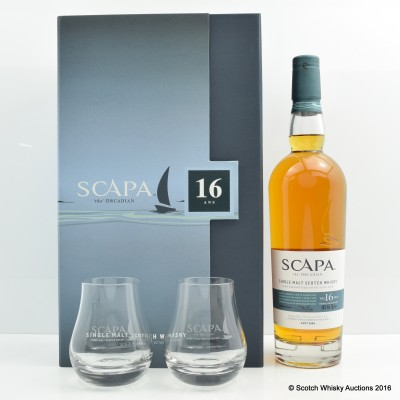 Scapa 16 Year Old Gift Set With Glasses