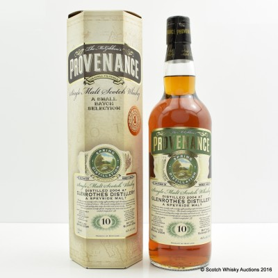 Glenrothes 2004 10 Year Old Provenance
