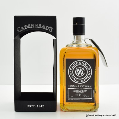 Invergordon 1972 43 Year Old Cadenhead's
