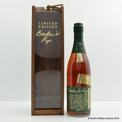 Booker's Rye 13 Year Old Big Time Batch 2016 Release