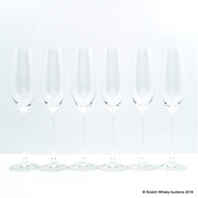 Chambord Champagne Flutes x 6