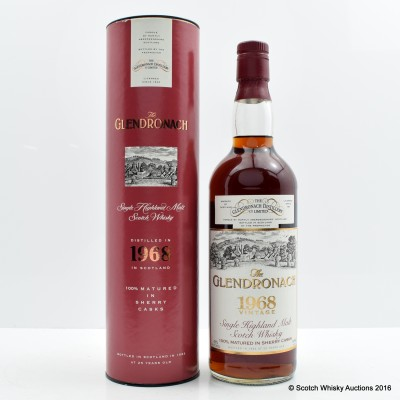 Glendronach 1968 25 Year Old 75cl