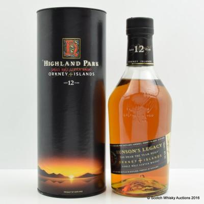 Highland Park 12 Year Old Eunson's Legacy