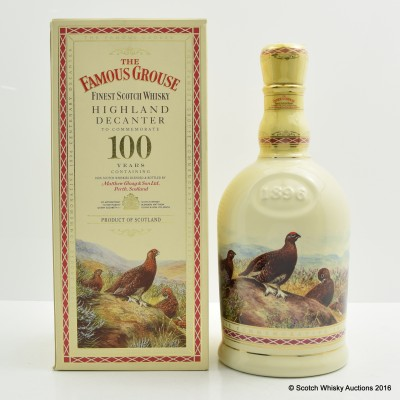 Famous Grouse Highland Decanter Commemorating 100 Years