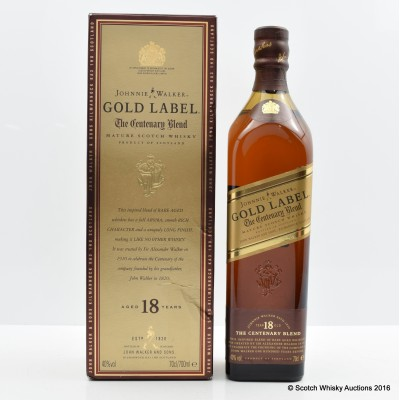 Johnnie Walker 18 Year Old Gold Label Centenary Blend