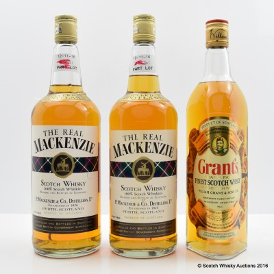 Grant's 75cl & The Real Mackenzie x 2