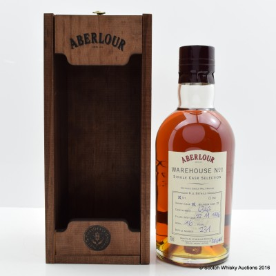 Aberlour Warehouse N°1 1996 16 Year Old Sherry Cask