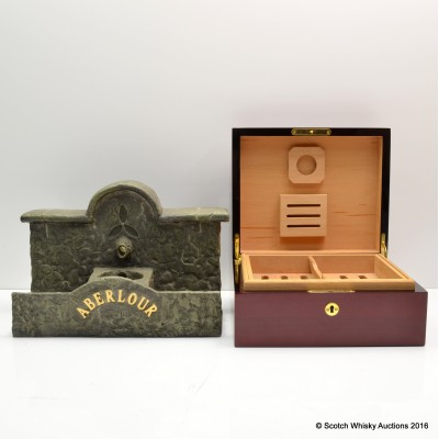 Aberlour Fountain Bottle Holder & Aberlour Cigar Humidor