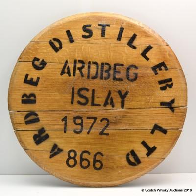 Ardbeg Distillery 1972 Cask 866 Cask End