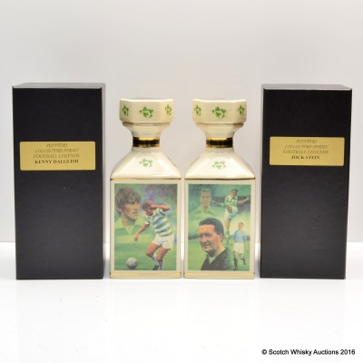 Pointers Football Legends Decanters x 2 - Jock Stein & Kenny Dalglish