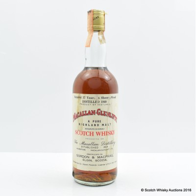 Macallan-Glenlivet 1940 37 Year Old Gordon & MacPhail 75cl