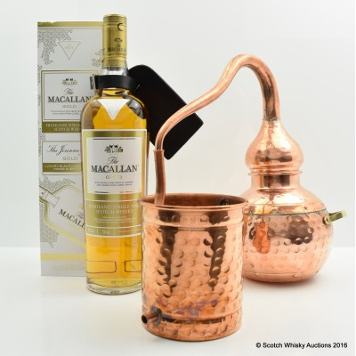 Macallan Gold Luggage Edition & Large Copper Model Still