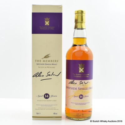 Scottish Parliament the Member's Blended Malt 14 Year Old (signed: Alex Salmond)