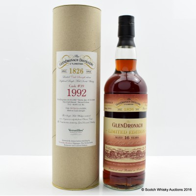 GlenDronach 1992 16 Year Old Single Cask #39 for Versailles