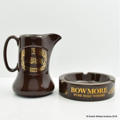 Bowmore Water Jug & Ashtray