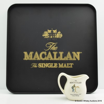 Macallan Branded Bar Tray & Water Jug