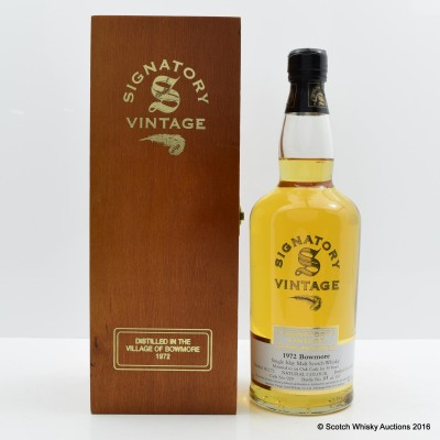 Bowmore 1972 30 Year Old Signatory