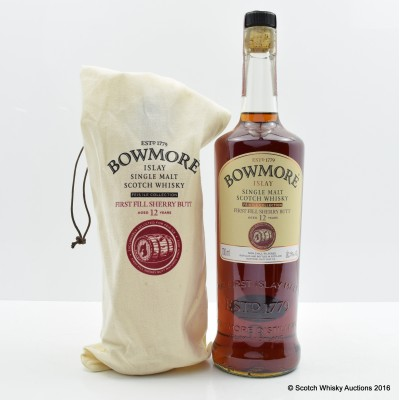 BOWMORE FEIS ILE 2015 12 YEAR OLD HAND FILLED SHERRY
