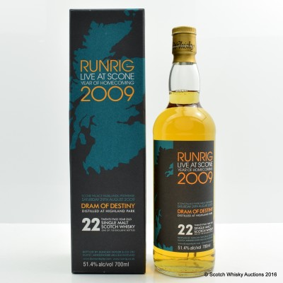 Highland Park 22 Year Old Runrig Live At Scone Dram of Destiny