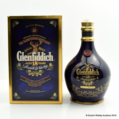 Glenfiddich 18 Year Old Ancient Reserve Blue Decanter