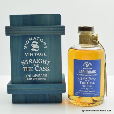 Laphroaig 1992 11 Year Old Port Finish Signatory Straight From The Cask 50cl
