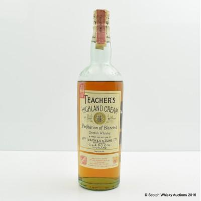 Teacher's Highland Cream 4/5 Quart