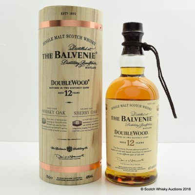 Balvenie 12 Year Old DoubleWood Wooden Tube
