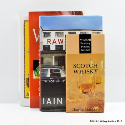 Scotch Whisky by Charles MacLean, Raw Spirit by Iain Banks, Handbook of Whisky by Dave Broom, A Ramble Round The Globe Revisited: In The Footsteps Of Tommy Dewar by Malcolm Greenwood