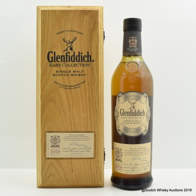 Glenfiddich 1978 34 Year Old Rare Collection