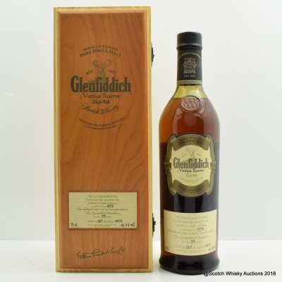 Glenfiddich 1973 33 Year Old Vintage Collection