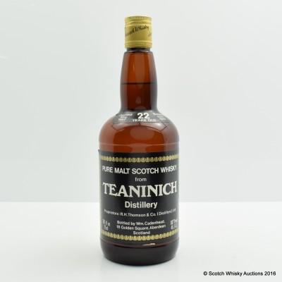 Teaninich 1957 22 Year Old Cadenhead's