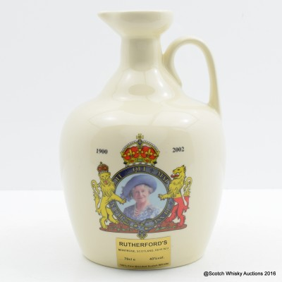 Rutherford's Ceramic Queen Mother Decanter