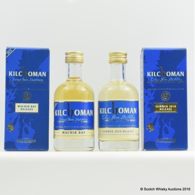 Kilchoman 2012 Machir Bay Release 5cl & Kilchoman 2010 Summer Release 5cl