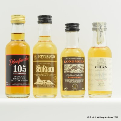 Assorted Minis 4 x 5cl Including Longmorn 15 Year Old 5cl