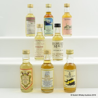 Assorted Minis 8 x 5cl Including St. Magdalene 25 Year Old 5cl