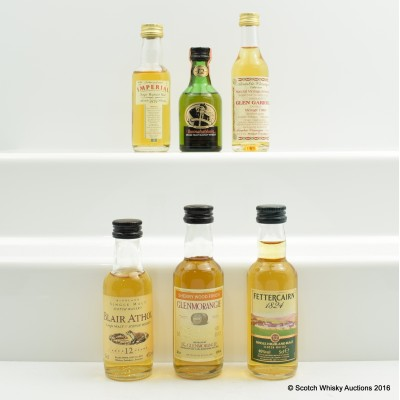 Assorted Minis 6 x 5cl Including 1979 Imperial Gordon & Macphail 5cl
