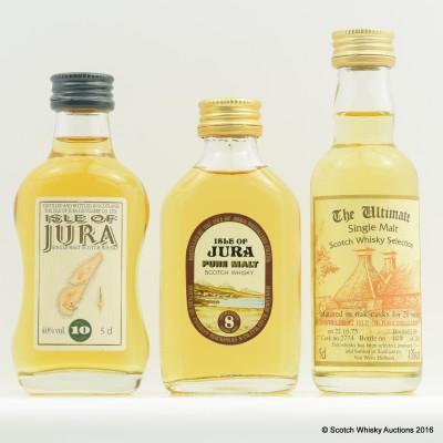Assorted Jura Minis 3 x 5cl