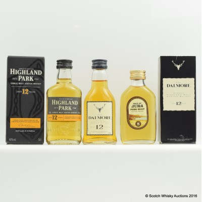 Assorted Minis 3 x 5cl Including Highland Park 12 Year Old 5cl