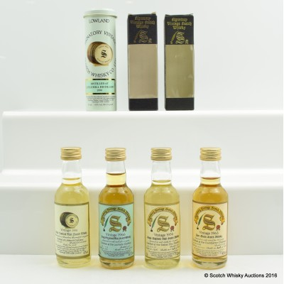 Assorted Signatory Minis 4 x 5cl Including Littlemill 1990