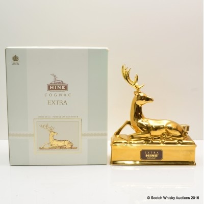 Hine Cognac Gold Stag Decanter