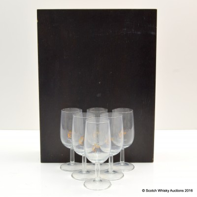 Remy Martin Glasses x 6 in Wooden Case