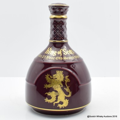 King of Scots 25 Year Old Burgundy Decanter 75cl