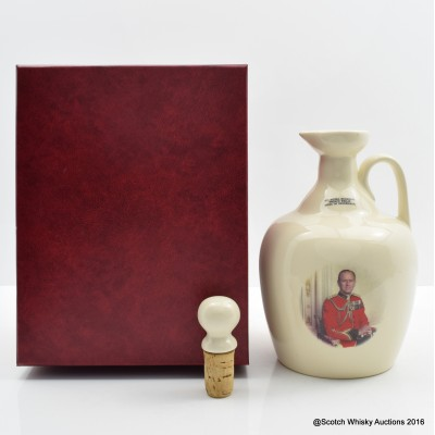 Rutherford's Prince Phillip Ceramic Decanter