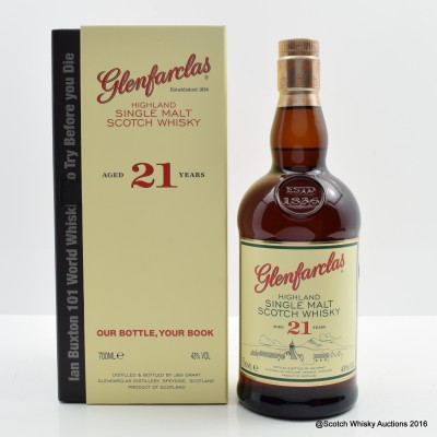 Glenfarclas 21 Year Old Including Ian Buxton's Book 101 World Whiskies to Try Before You Die