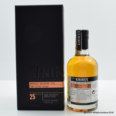 KININVIE 25 YEAR OLD BATCH #1 'THE FIRST DROP' SPECIAL RELEASE 35CL