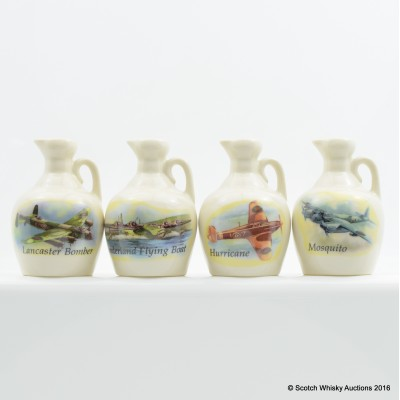 Rutherford's Ceramic Aircraft Minis 4 x 5cl