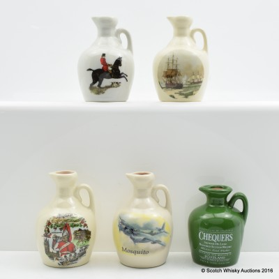 Assorted Rutherford's Ceramic Minis 5 x 5cl