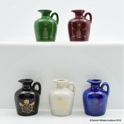 Rutherford's Ceramic Shield & Sword Minis 5 x 5cl